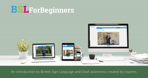 Different digital devices showing British Sign Language for beginners